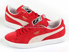Puma Suede Classic+ Eco Team Regal Red-White Lifestyle Casual Sneakers 352634 05