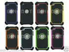 Deluxe Dual Layer Shock Proof Hard Case Cover Shell For iPod Touch 4 4th Gen 4G