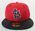 St. Louis Cardinals Red On Black All Sizes Fitted Cap Hat by New Era