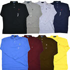 Polo Ralph Lauren Shirt Long Sleeve Polos Mens Classic Mesh Cotton Logo V247 +
