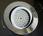 12V LED Decken-Einbaustrahler Chrom inkl. High Lumem MR16 Lampe 3W=40W Halogen