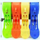 """BIG 5"""" Heavy Duty Long Plastic Spring Clamps Clothes Pins  Hanging Pegs Clips"""
