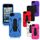 Deluxe 2 in 1 Silicone Robot Shell Case Cover with KickStand for iPhone 5 5G