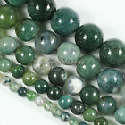 "4 6 8 10 12mm Moss Agate Round Gemstone Loose Beads 15.5"",Pick your Size!"