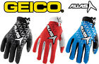 MENS ALIAS AKA MOTOCROSS MX GLOVES NEW GEICO gants enduro bike bmx mtb