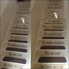 LARGE STAIRS QUOTE IN THIS HOUSE RULES FAMILY LOVE  WALL STICKER TRANSFER DECAL