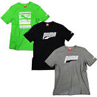 NEW PUMA GRAPHIC SPORTS FASHION CASUAL SUMMER TEE MENS T-SHIRT BLACK GREY GREEN