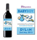 PERSONALISED NEW BABY BOY, GIRL, TWINS – WINE, CHAMPAGNE or BEER BOTTLE LABEL