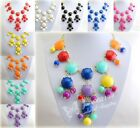 Bubble Alloy Golden Chain Lots Of Round Resin Beads Pendant Bib Necklace E821