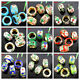 9 Colors 1 Mixed 18Pcs Pretty Cloisonne Rings Findings 15x8mm Hole:9mm