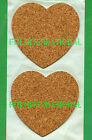 "3 3/4"" Heart Shape Peel & Stick Cork Blanks U-Decorate, backing Coaster10 to 100 image"
