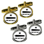 Come and Take it - Texas Flag - Revolt Round Cufflink Set