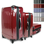 3Pc Trolley Set Suitcase Luggage 360 wheels Travel Polycarbonate jago24