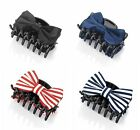 6cm Hair Bow on a Black Hair Claw Clip Clamp Accessory - Choose Your Colour
