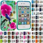 For iPhone 4 4S 4G Accessory TPU Design Flower Rubberized Soft Case Cover