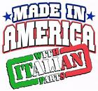MADE IN AMERICA WITH ITALIAN PARTS White Kids Tee Shirt 2-4=XS  OR 6-8=XS