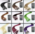 """20""""-26"""" Micro Loop Ring Remy Human Hair EXTENSION fashion Colors,50g-100g,100S"""