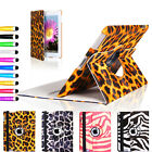 Leopard Zebra Leather 360 Rotating Case Cover With Sleep Wake For iPad 4 & 3 & 2