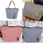 Fashion Womens Outdoor Totes Stripe Tassel Girl Hobo Shoulder Bag Handbag Zip