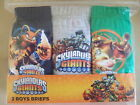 Boys Skylanders Giants 3 Pack Briefs Undies Pants - Ages 3/4, 5/6, 7/8 and 9/10