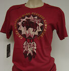 NEW Girls Juniors Womens DAVID & GOLIATH Chief Buffalo Wing Reserve Red T-Shirt