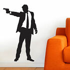 SILHOUETTE, LARGE WALL STICKER, 007, Man, Action, Decal, WallArt, SS640