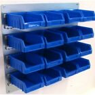 NEW Plastic Parts Storage Bins Boxes With Steel Wall Louvre Panel - SET 1