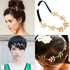 Chic Olive Leaves Headband Ring Hair Band Wrap Forehead Round Chain Hairband