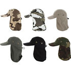 Fishing Boating Hiking Army Military Snap Brim Ear Neck Cover Sun Flap Cap New