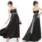 Ever Pretty Sexy Black Tie Back Strapless Long Evening Dress 09058