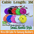 MICRO USB Flat Noodle Data Cable Cord Sync Charger Mybat Samsung Balckberry HTC6