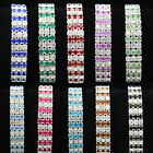 Choose Hot Fashion 3 Rows Vintage Crystal Rhinestone Acryl Bracelet More Colors