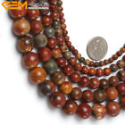 "Genuine Picasso Jasper Agate Onyx Gemstone Beads Natural Stone 15"" Round Ball"