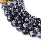 """Natural Snowflake Obsidian Stone Jewelry Making Beads15"""" Beauty Beads in Lots"""