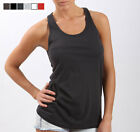 Womens Plain BASIC TULIP SINGLET LOOSE Fit fashion SOFT tank 6 COLOURS to choose
