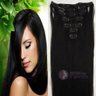 """USA STOCK! Cheap 5PCS 40G 100% remy human hair clip-on in extensions 16""""20""""24"""""""