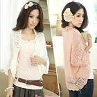 NEW Women's Crochet Knit Shawl Batwing Sleeve Hollow Out Cardigans Tops Sweater