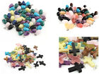 Colors Mix Chain Natural Crystal Stone Pendant Fit European Charms Necklace