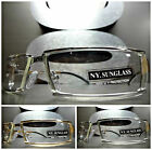 New SLEEK CONTEMPORARY STYLE Clear Lens Day or Night SUN GLASSES Fashion Frames