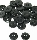 "9mm 0.34"" sz 14 small plastic coat buttons black 10-90 buttons discount retail"