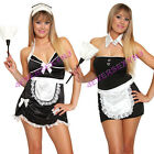 Sexy Womens French Maid Costume Exotic Dancer Stripper Halloween