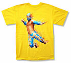 """WWE WRESTLING """"SIN CARA YELLOW"""" T-SHIRT NEW OFFICIAL YOUTH KIDS ADULT"""