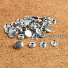 12.5/15/17mm Silver Snap Fasteners Popper Press Studs Sewing Rivet Leather craft