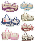 5pcs Baby Nappy Changing Diaper Bag SET - 2 BAGS - CHANGE MAT & 2 POUCHES
