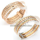 A1-R151 Fashion Linked 7 Bands 18KGP Multi-Colored Gold Plated Ring Set