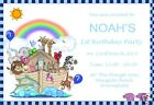 Personalised Party Invitations Noahs Ark Design Pack 8 with envelopes