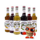 Monin Coffee Syrups, 4 x 1 Ltr / Litre Plastic Bottles, Same As Costa Use