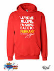 KIMI RAIKKONEN BACK TO FERRARI LEAVE ME ALONE Formula 1 Hoodie S-XXL - Red