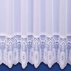 LILIAN LACE BASE PREMIUM QUALITY NET CURTAIN IN WHITE - SOLD BY THE METRE