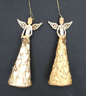 NEW GISELA GRAHAM SILENT NIGHT RESIN/FABRIC ANGEL CHRISTMAS TREE DECORATION